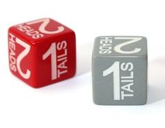 d6 15mm Heads/Tails Dice (2)