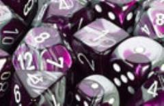 D6 16mm Purple & Steel w/White (12)