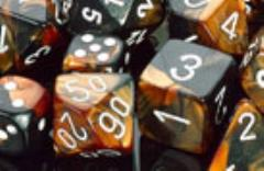 D10 Black & Copper w/White (10)