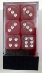 d6 16mm Red w/White (12)