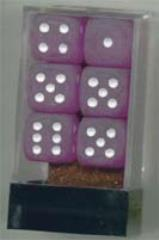 D6 16mm Purple w/White (12)