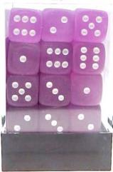 d6 12mm Purple w/White (36)