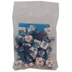 Gemini Assortment Blue & White w/Red (20)