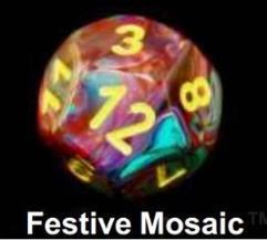 Festive Polyhedral Mosaic w/Yellow (20)