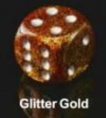Glitter Polyhedral Gold w/Silver (20)