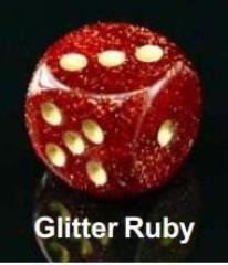 Glitter Polyhedral Ruby w/Gold (20)