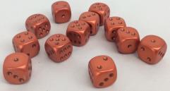d6 16mm Orange w/Rust (12)