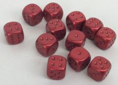 d6 16mm Red w/Bronze (12)