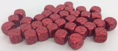 d6 16mm Red w/Bronze (36)