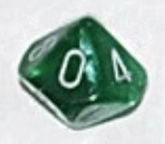 d10 Green w/Silver