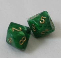 D10 Green w/Gold (2)