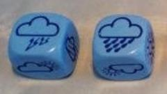 D6 18mm Opaque Weather Dice (2)