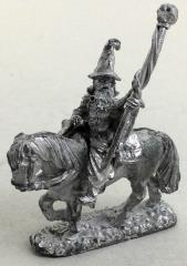 Mounted Wizard w/Staff #1