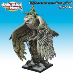 Elf Sorceress on Great Owl (Limited Edition)