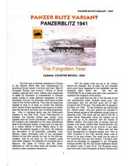 Panzer Blitz - Situations for 1941