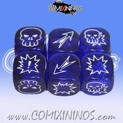 Translucent Blue d6 Set (3)