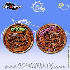 Lizardmen Big Guy Metal Coin for Prone/Stunned Status