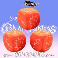 Block Dice - Orange (3)