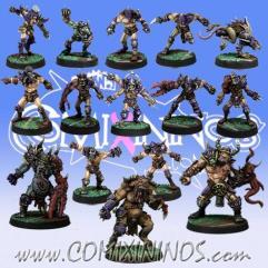 Kaos Pact Team of 15 Players w/Big Guys