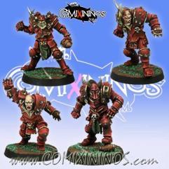 Set of 4 Chaos Warriors