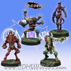Set of 4 Kaos Demons