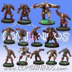 Kaos Team of 13 Players w/Minotaur
