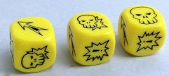 Block Dice - Yellow (3)