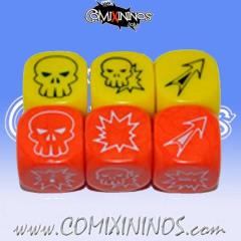 Orange & Yellow Dice Set (6)