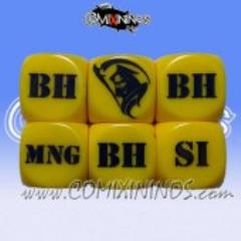 Injury d6 Set - Yellow (2)