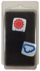 Set of 2 Weather Dice - White
