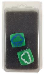Set of 2 Weather Dice - Green