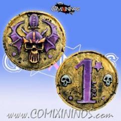 Dark Elf Metal Flipping Coin