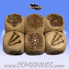Set of 3 Norse Block Dice