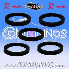 32mm Deluxe Rubber Rings - Black