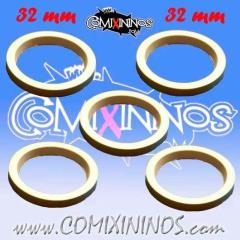 32mm Deluxe Rubber Rings - White