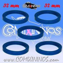 32mm Deluxe Rubber Rings - Blue