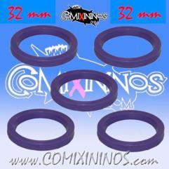 32mm Deluxe Rubber Rings - Purple