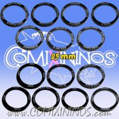 25mm General Skill Rings - Black