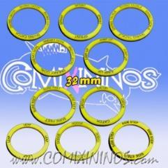 32mm Agility Skill Rings - Yellow