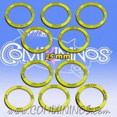 25mm Agility Skill Rings - Yellow