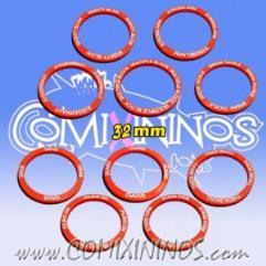 32mm Strength Skill Rings - Red