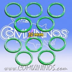 32mm Mutation Skill Rings - Green