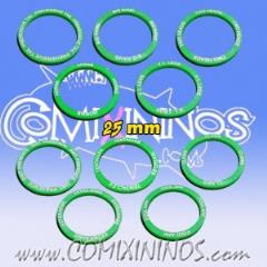 25mm Mutation Skill Rings - Green