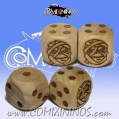 d6 Mummy Undead w/Dots (2)