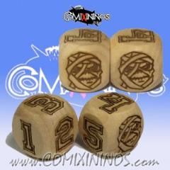 d6 Mummy Undead w/Numbers (2)