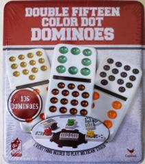 Dominoes - Double Fifteen Color Dot