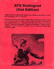 ATS Stalingrad (2nd Edition, Cardstock Map Edition)