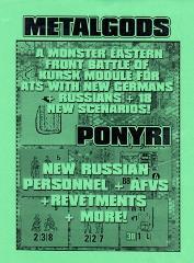 Metal Gods - The Battle of Kursk at Ponyri Station (Cardstock Map Edition)
