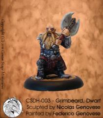 Grimbeard the Dwarf (Resin)