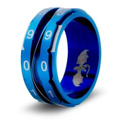 Dice Ring - Blue, Size 9 (Counter)
